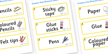 Marula Themed Editable Creative Area Resource Labels - Themed creative resource labels, Label template, Resource Label, Name Labels, Editable Labels, Drawer Labels, KS1 Labels, Foundation Labels, Foundation Stage Labels