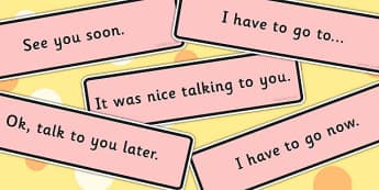Conversation Endings Cards - conversation aid, visual aid, support, SEN