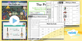 PlanIt Y1 SPaG Lesson Pack: The Prefix un - GPS, spelling, verb, adjective, root