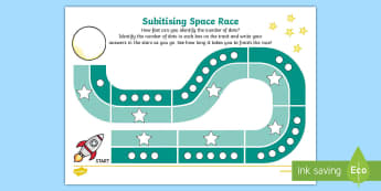 Subitising Race Activity Sheet 1-9 - subitising cards, 1-9, recognising numbers, numbers, recognise, subitising, worksheet