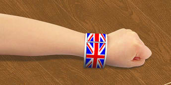 Union Flag Wristbands - union, flag, wristbands, wrist, band