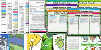 EYFS Bumper Planning Pack Jungle Animals Themed - walking through the jungle, jungle