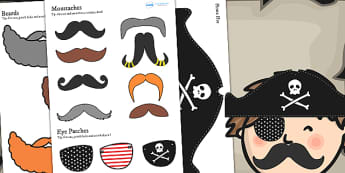Pirate Themed Birthday Party Dressing Up Props - birthdays, party