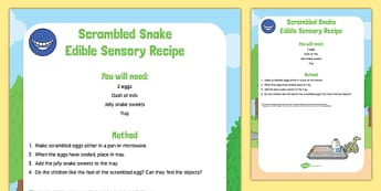 Scrambled Snake To Support Teaching On The Gruffalo Edible Sensory Recipe -