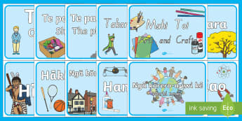 Classoom Signs Tohu Akomanga Display Pack Te Reo Māori / English - new zealand, nz, classroom, signs, labels, display, new classroom, new year, new term