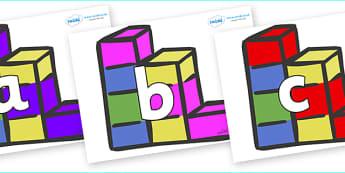 Phoneme Set on Building Bricks - Phoneme set, phonemes, phoneme, Letters and Sounds, DfES, display, Phase 1, Phase 2, Phase 3, Phase 5, Foundation, Literacy
