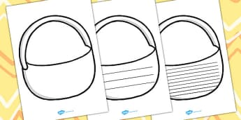 Draw And Write Picnic Basket Writing Frames - writing aid, write
