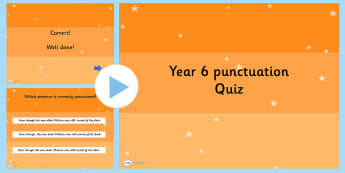 Year 6 SPaG PowerPoint Quiz 1 - quiz, class games, group games