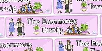 The Enormous Turnip Display Banner -  Enormous Turnip, display banner, A4, display, Traditional tales, tale, fairy tale, little old man, little old woman, seed, cat, dog, mouse, pull, turnip, working together
