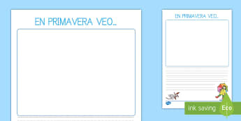 Pautas: En primavera veo - El tiempo y las estaciones del año, proyecto, escritura, descripciones,Spanish
