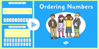 Ordering Numbers 1-20 PowerPoint - ordering numbers, order, numbers, 1-20, powerpoint, activity, maths, mathematics, numeracy