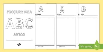 Broșura mea ABC de sfârșit de an Broșură - amintiri, alfabet, română, an școlar, activități, activitate ,Romanian