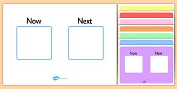 Now Next Visual Aid - now and next visual aid, now and next visual timetable, now and next display, what we are doing now and what we are doing next, sen