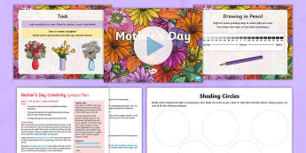 KS2 Mother's Day Project Lesson Plans  - KS1 & KS2 Mother's Day UK (26.3.17), art, literacy, creative project, poems, poetry, shading, shadi
