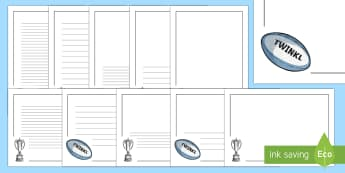 Rugby Six Nations Page Border Pack - KS1 & KS2 Rugby Six Nations (4th February 2017)