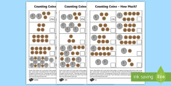 Place value and coins Activity Sheets - year 2, maths, place value, homework, coins, worksheets, money