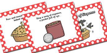 Sing a Song of Sixpence PowerPoint - sing a song of six pence, nursery rhymes, nursery rhyme powerpoint, six a song of six pence nursery rhyme, song, rhyme