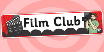 Film Club Banner - film club, display banner, banner for display, display, banner, header, header for display, header display, display header