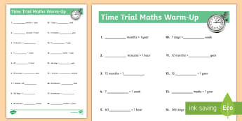 Time Trial Activity Sheet - Time, am, pm, weeks, days, months, years, analogue, digital,worksheet,worksheets