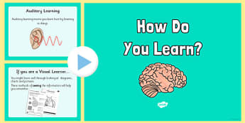 KS2 What Sort of Learner Are You? VAK Questionnaire PowerPoint - visual, auditory, kinaesthetic, learning style, KS2, questionnaire