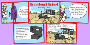 Sensational Safari Challenge Cards - safari, cards, challenge, sensational, challenge, safari, Africa, geography, location, continent