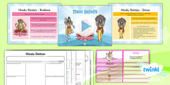 PlanIt - RE Year 3 - Hinduism Lesson 2: Main Beliefs Lesson Pack - hinduism, deities, dharma, karma, reincarnation