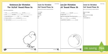 Northern Ireland Linguistic Phonics Stage 5 and 6, Phase 3a and 3b, ch, tch Dictation Sentences Activity - Linguistic Phonics, Stage 5, Stage 6, Phase 3a, Phase 3b, Northern Ireland, sentences, dictation, wo