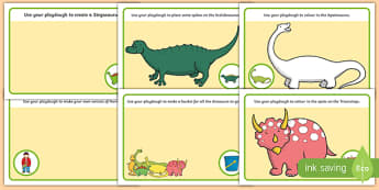 Playdough Mats to Support Teaching on Harry and the Bucketful of Dinosaurs - motor skill
