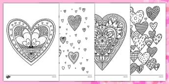 Coloriages anti-stress : Coeurs - La Saint-Valentin - Coloriages, Saint-Valentin, cycle 2, cycle 3, détente, anti-stress, coeurs
