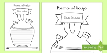 Poesía de formas: Poema sobre el botijo - San Isidro, Fiestas regionales, Madrid, poesía, botijo, escritura creativa.,Spanish