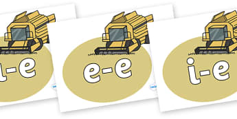 Split Digraphs on Combine Harvesters - Split digraphs, magic e letters, modify, Phase 5, Phase five, alternative spellings for phonemes, letters and Sounds