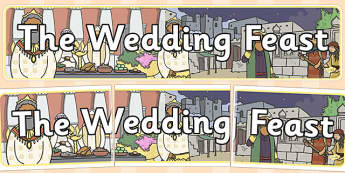 The Wedding Feast Display Banner - parables, wedding feast, feast