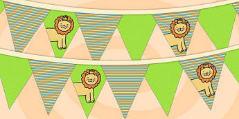 Jungle Themed Birthday Party Picture Bunting - party, birthday