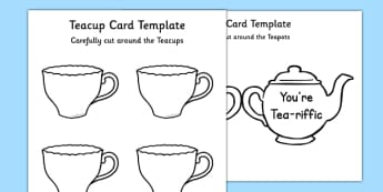 Tea Pot Father's Day Card Template You're Tea-riffic - fathers day, card