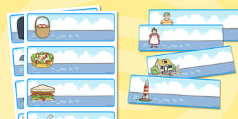 Editable Drawer-Peg-Name Labels to Support Teaching on The Lighthouse Keeper's Lunch - Ronda Armitage, Mr Grinling, Mrs Grinling, seagulls, seaside, lunch, Hamish, Resource Labels, Name Labels, Editable Labels, Drawer Labels, Coat Peg Labels, Peg Lab