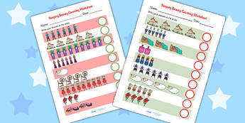 Sleeping Beauty Counting Sheets - sleeping beauty, counting sheets, counting, sleeping beauty counting, themed worksheets, numeracy, adding, plus, numbers