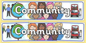 Community Display Banner - community, banner, display, header