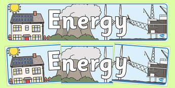 Energy Themed Banner - energy, display, banners, display