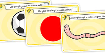 SEN Playdough Mats - SEN, playdough mat, mat, playdough, thin, think, long, short, circle, square, ball