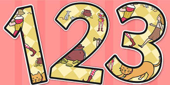 The Pied Piper Themed A4 Display Numbers - display, numbers