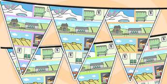 Small World Area Themed Bunting - small world, classroom areas