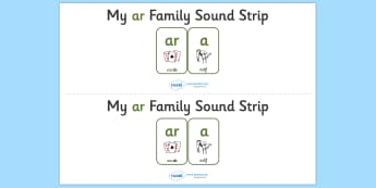 My OU Sound Family Strip - Sound family, AR, alternate spellings, alternate spellings for phonemes, family, sounds, phoneme, phonemes