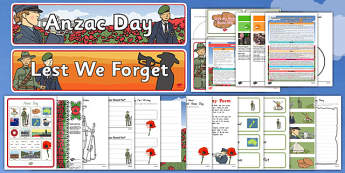 New Zealand Anzac Day Resource Pack - nz, new zealand, anzac day, resource pack, resource, pack