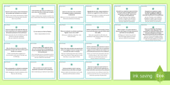 French Early Finishers Challenge Cards - KS4 French Early Finishers, challenge, cards, GCSE, revision, extension, classroom organisation, Fre
