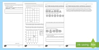 Year 2 Maths Geometry Position and Direction Assessment 1 - year 2, geometry, maths, assessment, position, direction, location.