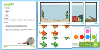 Magnetic Fish Colour Activity Pack