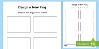 Design a New New Zealand Flag Activity - New Zealand Social Sciences, NZ, Social Studies, flag, activity