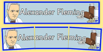 Sir Alexander Fleming Display Banner - sir alexander fleming, display banner, display, banner