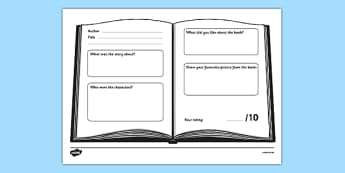 Book Review Worksheet - book review, worksheet, book, review, author, title, independent, working