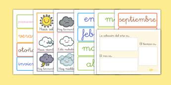 Calendario - los meses, el tiempo y las estaciones - año, calendario, decoración